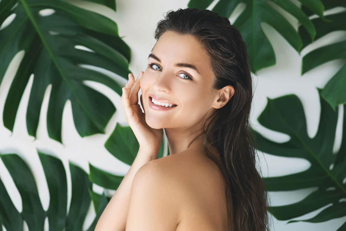 Woman with healthy skin - NAET Dubai
